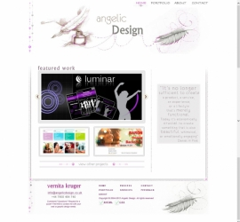 Web Design - Angelic Design Portfolio Site Homepage