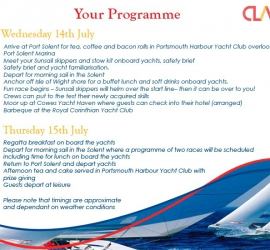 Online Invitation for Sailing Regatta