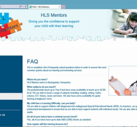 Web Design - HLS Mentors Website - FAQ Page