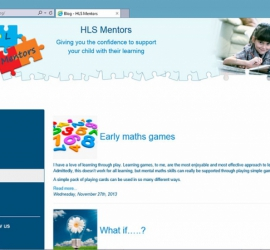 Web Design - HLS Mentors Website - Blog Page