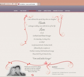 Wedding Website Invitation