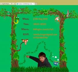 Website as personalised birthday invitation