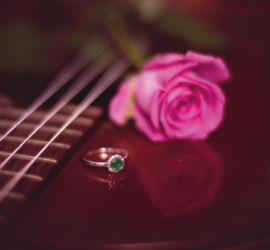 Graphic Design for Wedding in Basingstoke, England - Front of RSVP Card