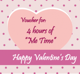 Valentines Voucher for Me-Time