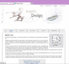 Web Design - Angelic Design Portfolio Site About Us Page