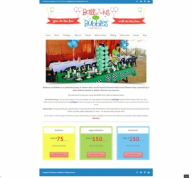 Web Design for a party planning company in Somerset West, South Africa