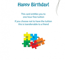 Middle of Birthday Card