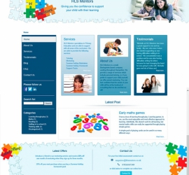 Web Design - HLS Mentors Website - Homepage