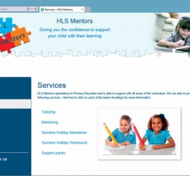 Web Design - HLS Mentors Website - Services Page