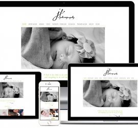 Web Design Showcase of website designed for a photographer from Cape Town in South Africa