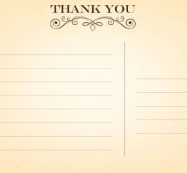 Graphic Design for Wedding in the UK - Back of the Thank You Card
