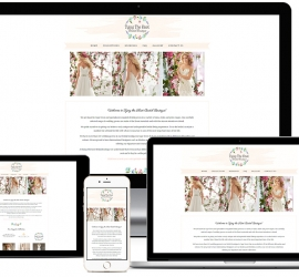 Web Design Showcase for Cape Town Bridal Boutique with booking system